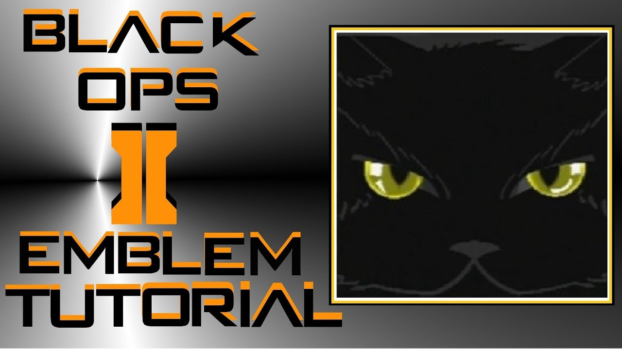 call of duty black ops 2 black cat emblem tutorial youtube