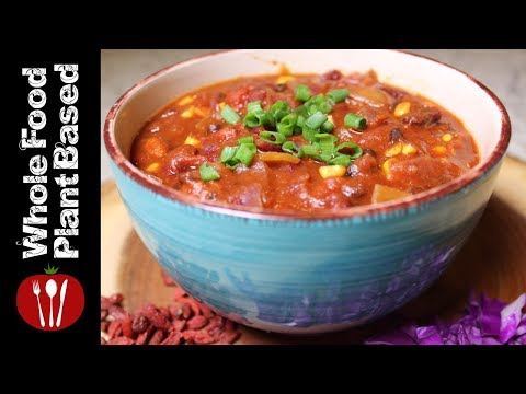 Meatless Mondays Vegan Super Chili: The Whole Food Plant Based Recipes