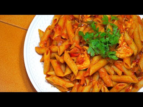 🔵 Chicken Tomato Pasta Pinoy Style - Tagalog Videos - Filipino Food