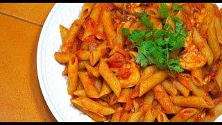 Chicken Tomato Pasta Pinoy Style - Tagalog Videos - Filipino Food