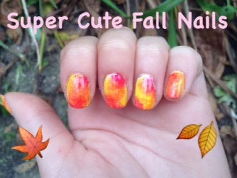 Cute fall nails!!