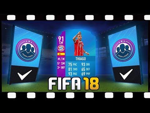 Zagrajmy w FIFA 18 SBC THIAGO 91  Składamy całą Bundeslige + walka na banery 💥