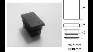 Прямоугольная  заглушка для профильной трубы 40x25 мм(, 2014-11-21T10:57:30.000Z)