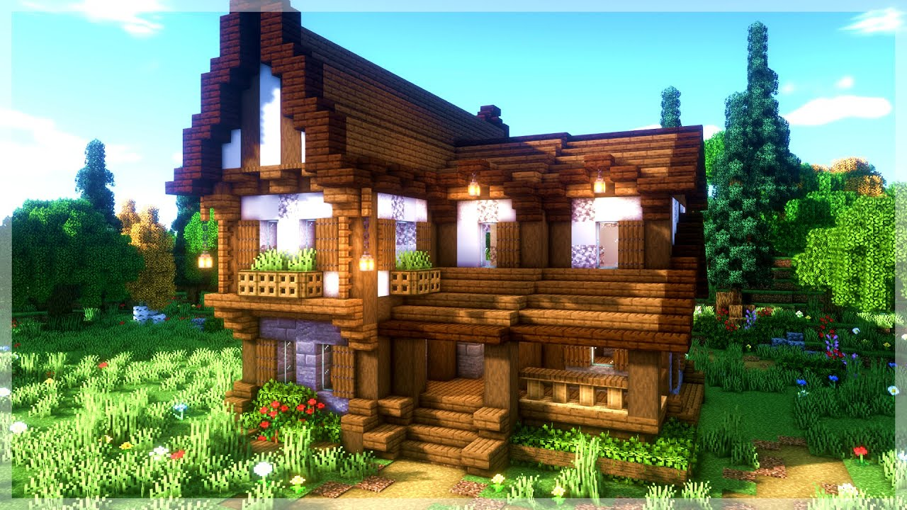 Minecraft: How to Build a Medieval Cabin House (Tutorial)