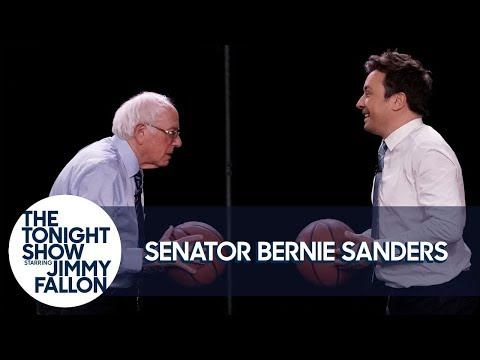 Jimmy Shoots Free-Throws with Senator Bernie Sanders