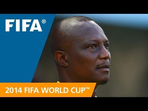 Ghana's James Kwesi APPIAH Final Draw reaction