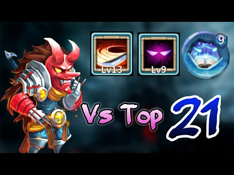 Ninja | Vs Top 21 Heroes | 13 Skill | 9 UP | 9 Revite | 5 Holy Conviction | Castle Clash