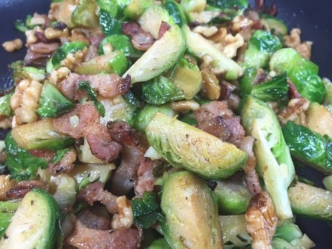 Brussel Sprouts and Bacon /Bap Cai Non Xao Thit (Vietnamese)