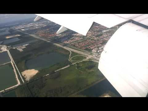 Amazing landing from London Heatrow to Miami (american airlines AA39)