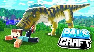 WE FOUND A T-REX!! | PalsCraft 2 - Episode 4