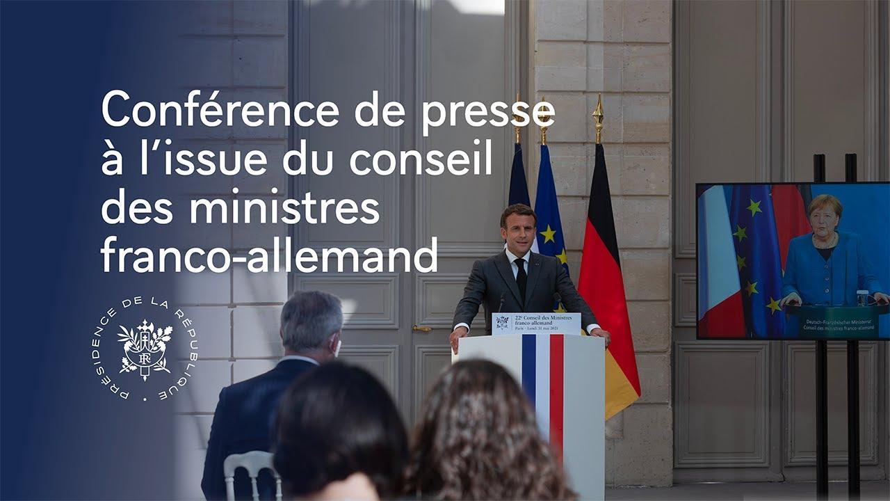Download Conseil des ministres franco-allemand : conférence de presse conjointe avec la Chancelière