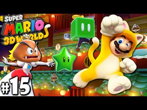 Super Mario 3D World: 2P Co-Op! Secret Bowser Train PART 15
