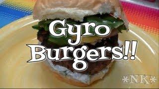Greek Style Gyro Burgers Recipe  Noreens Kitchen