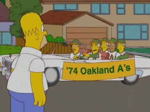 The Simpsons & The Oakland A's