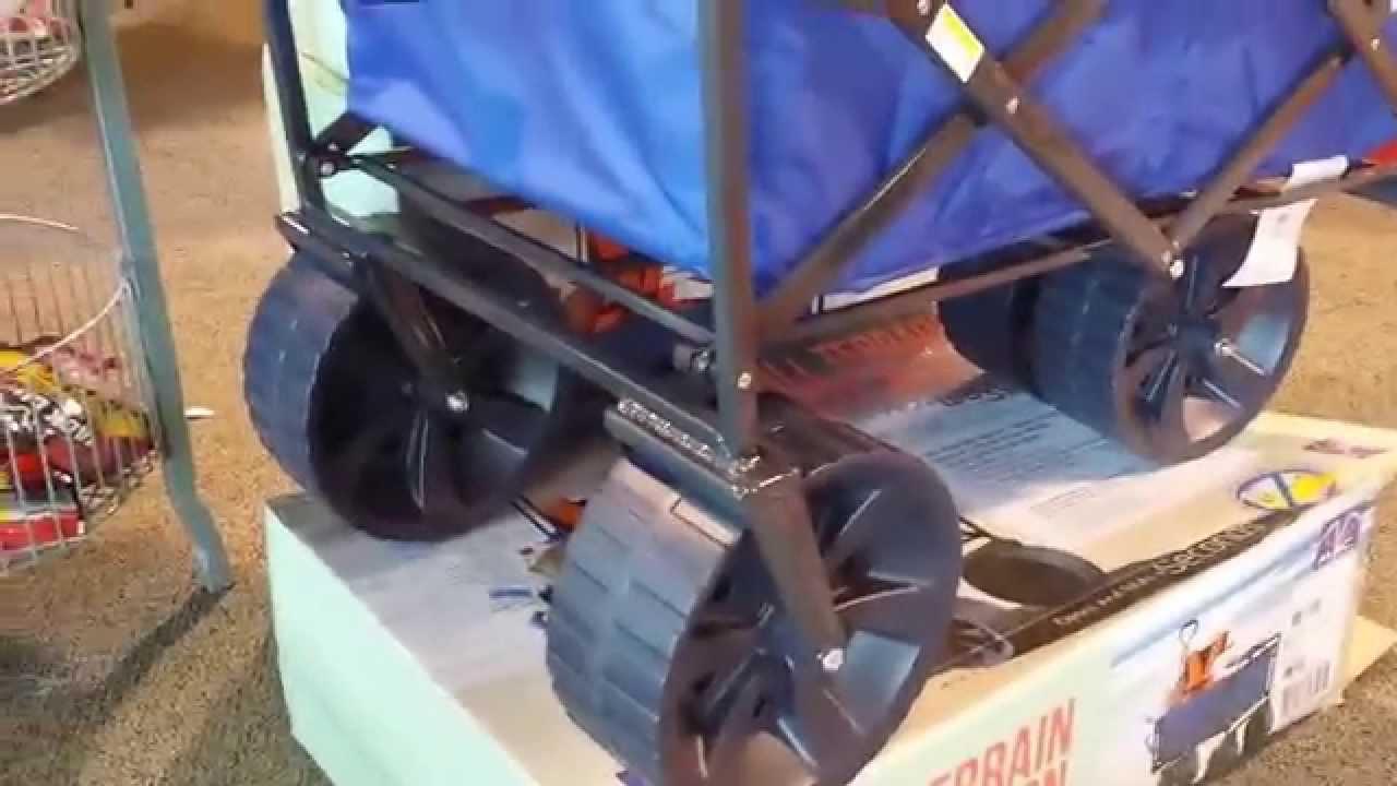 Folding Wagon Mac All Terrain Sports Wagon Beach Review Youtube