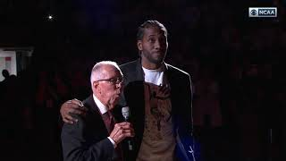 SDSU MEN'S HOOPS: KAWHI LEONARD JERSEY RETIREMENT CEREMONY