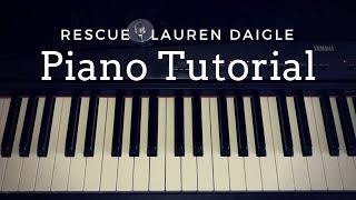 Rescue - Lauren Daigle (Piano Tutorial) || Kimberly Rose