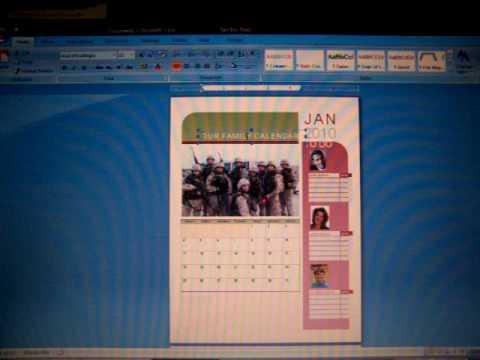 How to make a Calendar using Microsoft Word 2007 - YouTube
