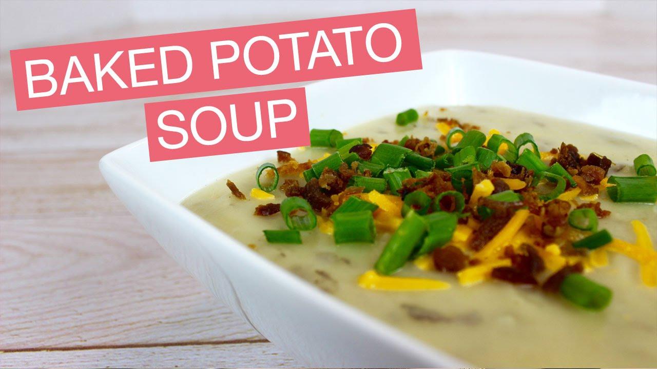 Baked Potato Soup Recipe | parejeda - YouTube