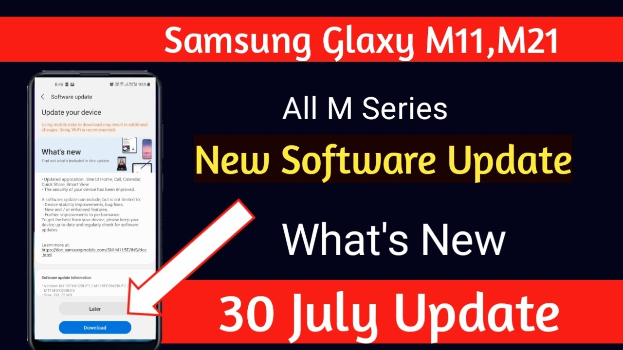 New Software Update in Samsung Glaxy M Series Smartphone   What's New     Samsung July Update