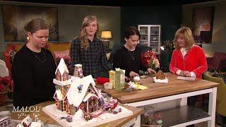 Systrarna har tävlat i att bygga pepparkakshus i tio år - Malou Efter tio (TV4)