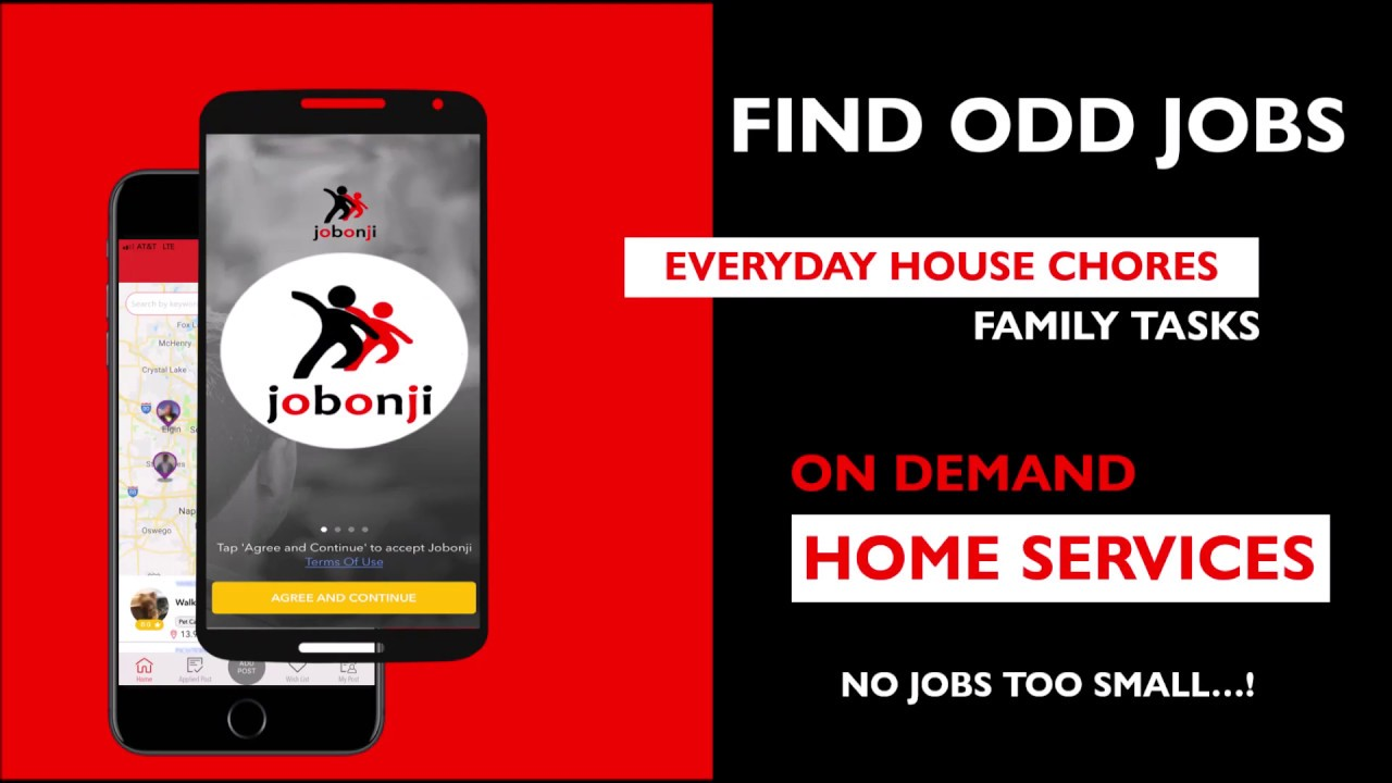Jobonji - Find Odd Jobs On Demand Home Services Handyman App Near Me