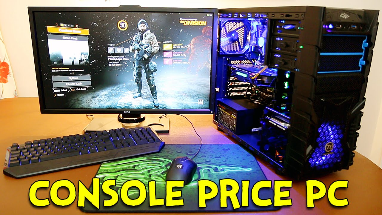 how good is a console price pc youtube