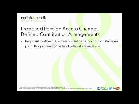 Budget March 2014 - Proposed Changes for Defined Contribuion Pensions