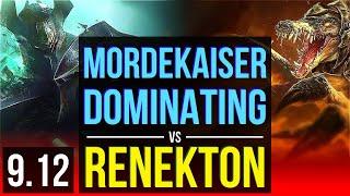 MORDEKAISER vs RENEKTON (TOP) (DEFEAT)   Dominating   TR Grandmaster   v9.12