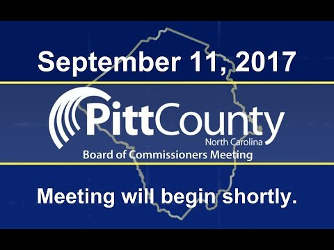 Pitt County Commissioners meeting for 9/11/2017