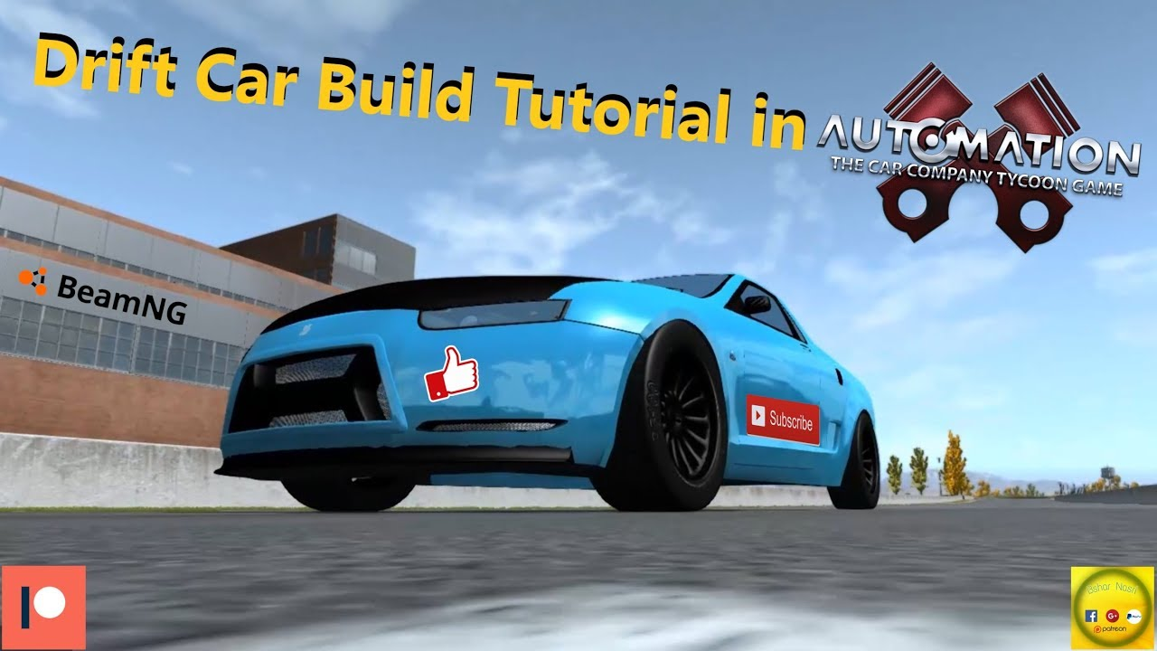 How to Make a Drift car in Automation Game (Step by Step) + Drifting