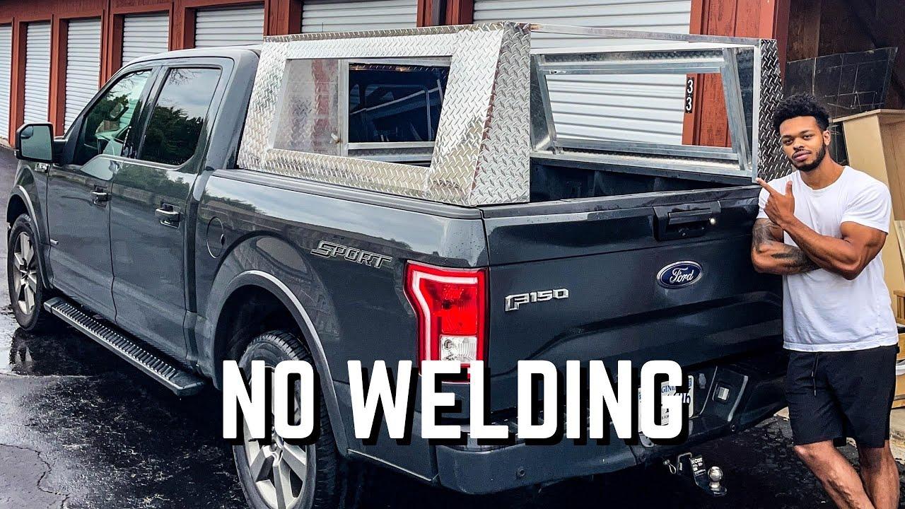 DIY No Weld Aluminum Truck Camper Frame | Overland Camper ep. 1 (Foundation)