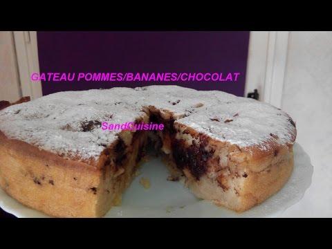 gâteau-pommes-bananes-chocolat