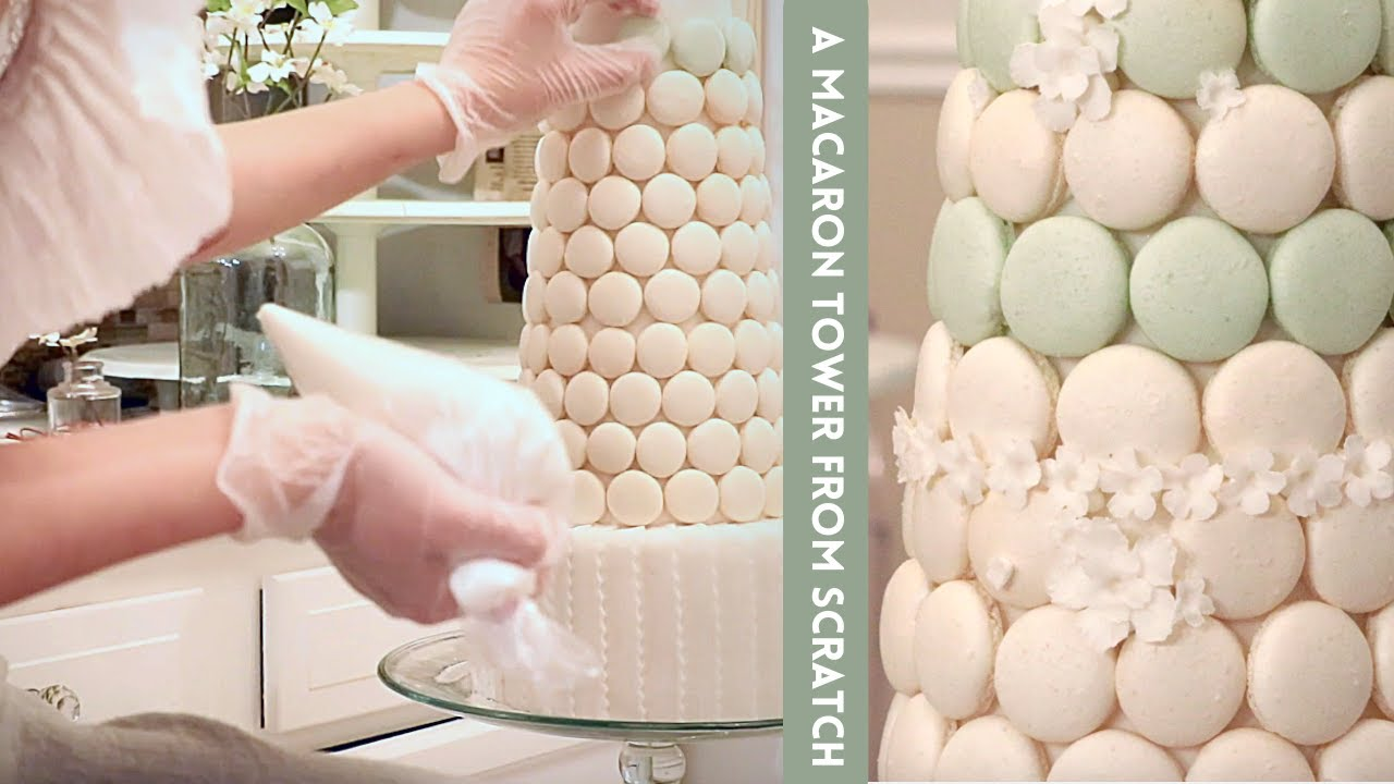 TUTORIAL | Macaron Tower with Flowers for Display
