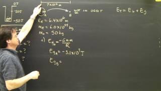 Gravitational Orbital Energy Part 1 Physics Tutorial Planetary Mechanics