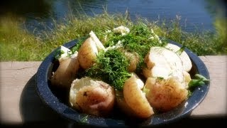 Side Dishes - Boiled New Potatoes With Baby Dill, Garlic And Butter