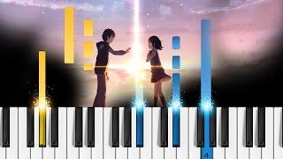 Kimi no na wa OST - Kataware doki - Piano Tutorial - How to play Kataware Doki (かたわれ時)
