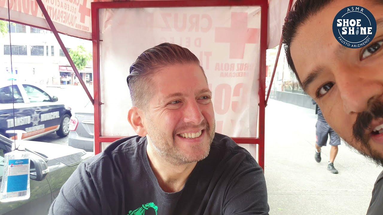 S4E98 Jason Rupp meeting Machine Man #mx #mexico #ASMR #shoeshine #faustoarizmendi #mexico #mx