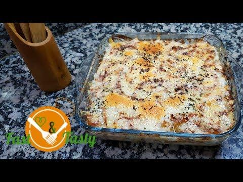 gratin-de-frites-à-la-créme❤(pasticcio)-❤-باستيشيو-cream-fries-gratin