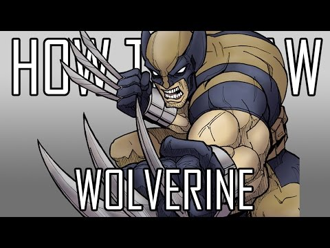 Draw Wolverine X-Men - Quick Simple Easy How To Steps For Beginners 16