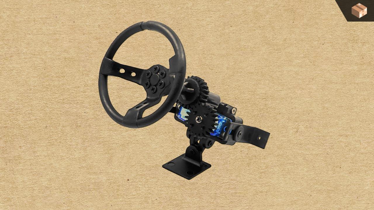Ddw 1 10 rc steering wheel v1 in action youtube for Benetton 4 wheel steering