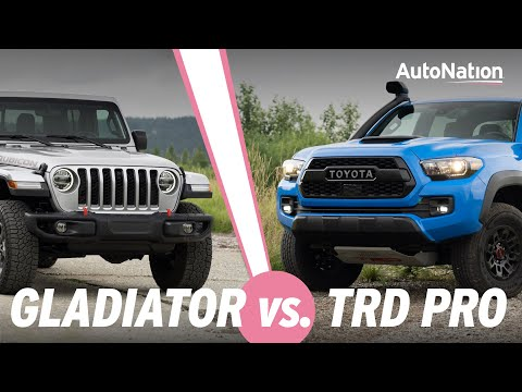 2020 Jeep Gladiator Rubicon vs Toyota Tacoma TRD Pro - Which is Best? #autonationdrive