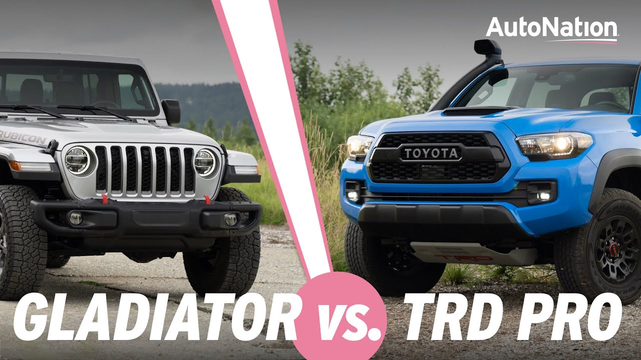 2020 Jeep Gladiator Rubicon Vs Toyota Tacoma Trd Pro Which Is