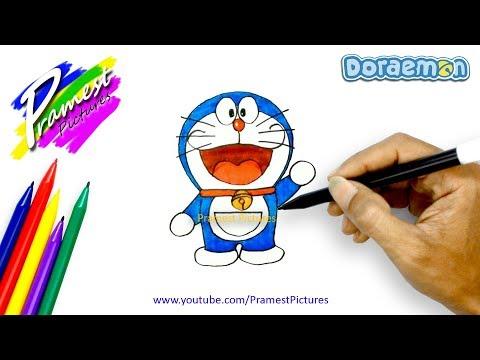 Doraemon | Cara Menggambar Dan Mewarnai Gambar Kartun Untuk Anak-anak