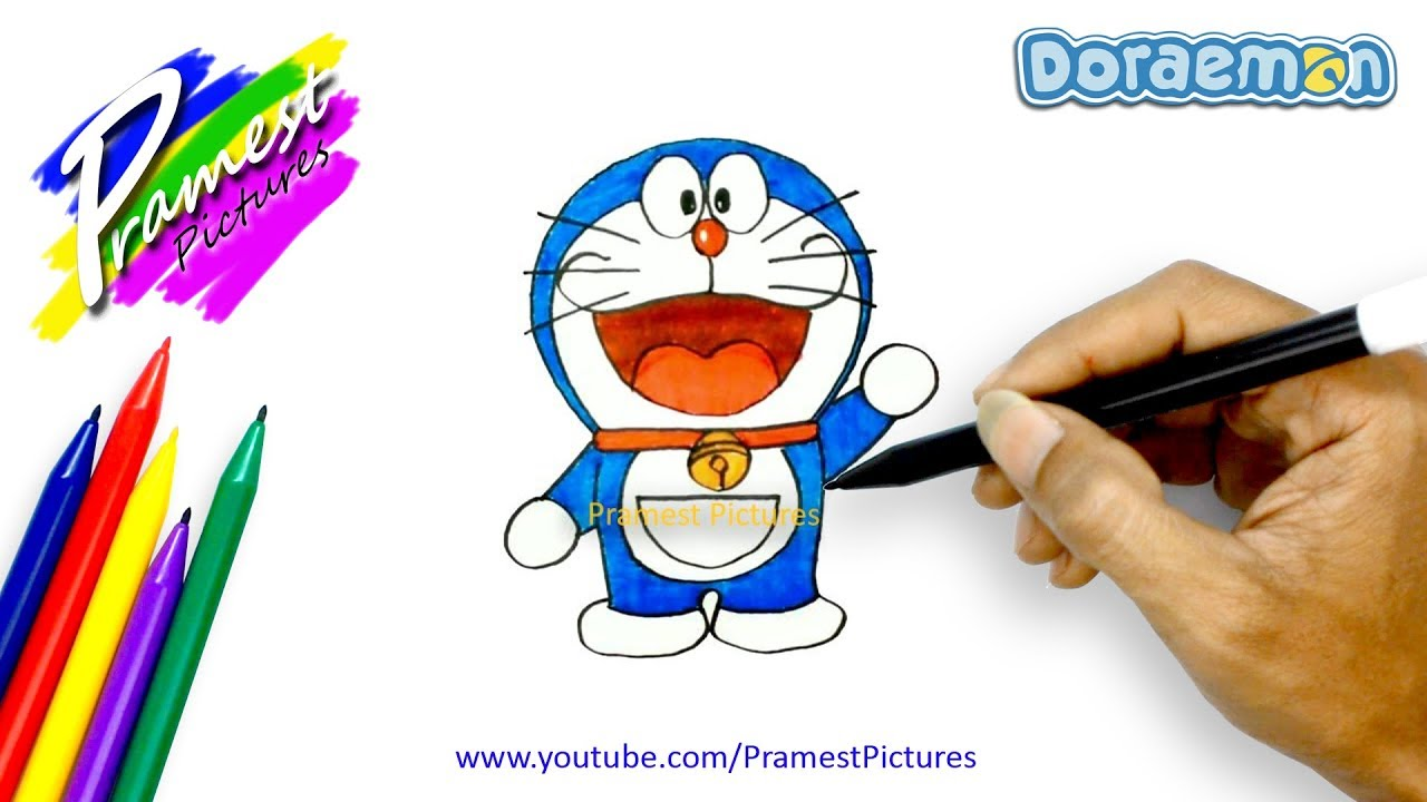 Doraemon How To Draw And Color Cartoon For Kids