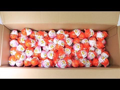 144 Surprise eggs Minnie mouse Kinder joy surprise eggs Unboxing by BooBooTV