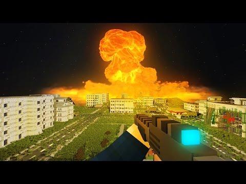 видео майнкрафт после ядерной войны