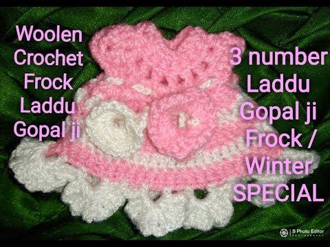 Three number Laddu gopal Ji winter dress /baby frock dress for Laddu gopal Ji