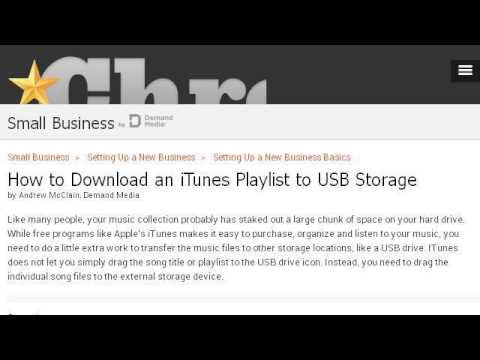 Itunes Music To Flash Drive For Car