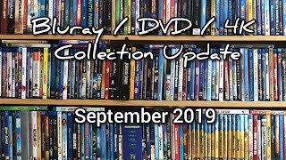 Bluray / DVD Collection Update From September 2019